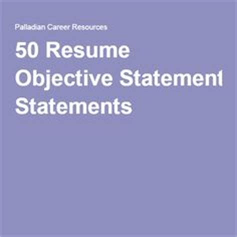 Resume Objective Statements - Network